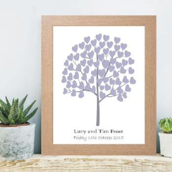 A3 Tree of Hearts Signature Tree - Wedding Christening or Baptism Guest Book Alternative